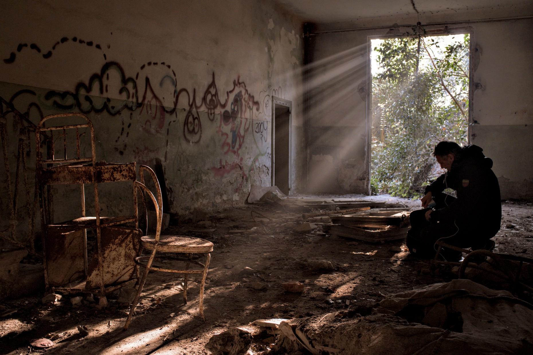 Magic light in the abandoned hospital on Poveglia