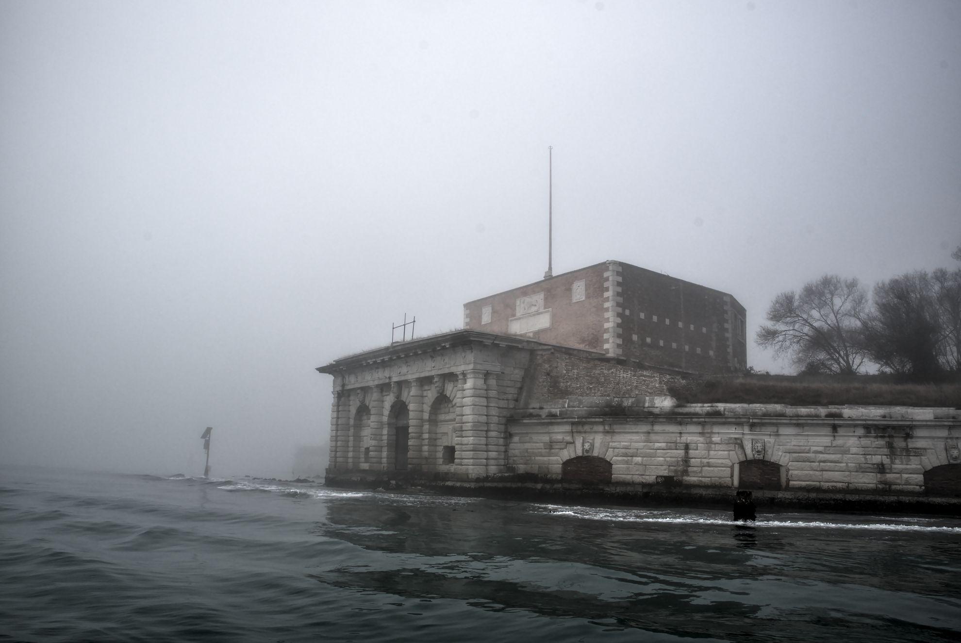 The Venetian lagoon on the fog - Sant'Andrea