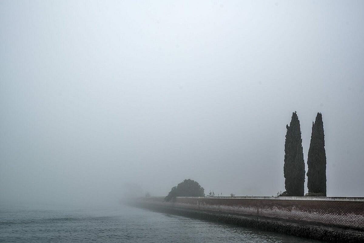 The Venetian lagoon on the fog - Sant'Erasmo
