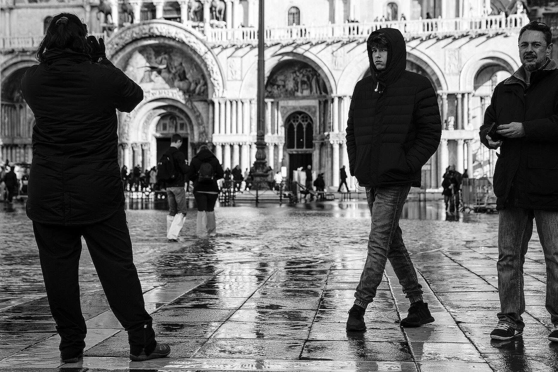 People mulling around in St. Mark's square
